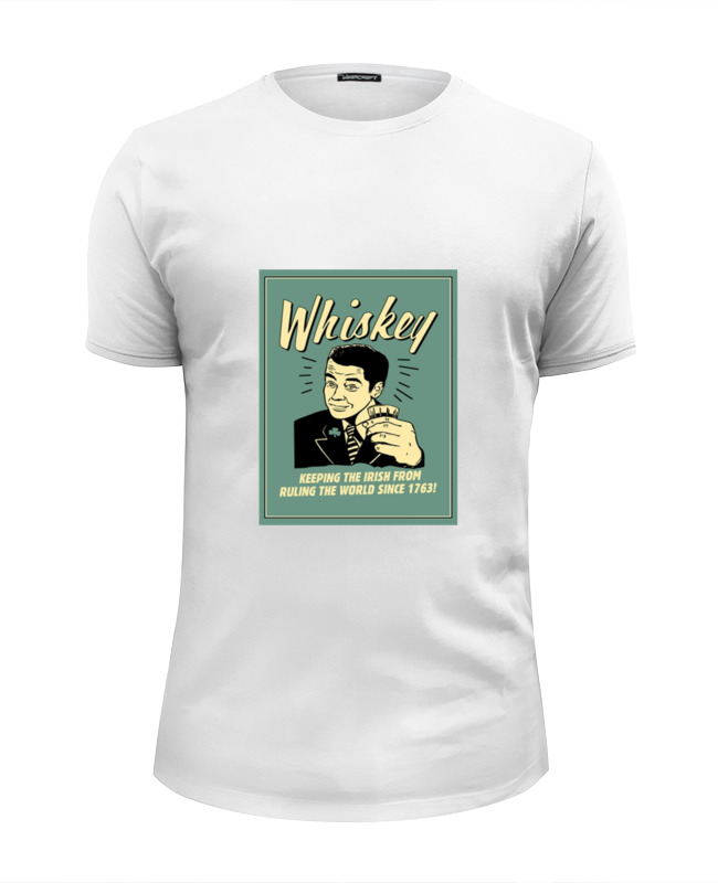 Футболка Wearcraft Premium Slim Fit Printio Whiskey