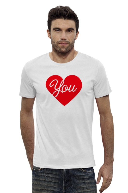 Футболка Wearcraft Premium Slim Fit Printio I love you