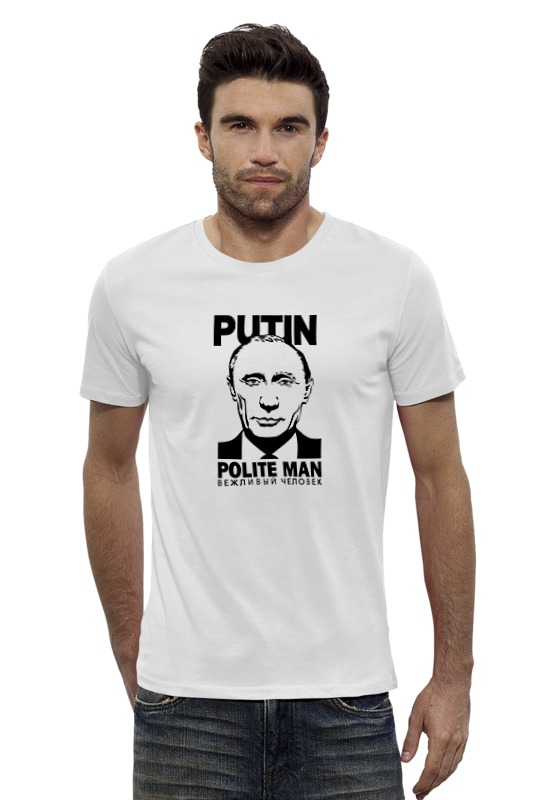 Футболка Wearcraft Premium Slim Fit Printio Путин футболка wearcraft premium slim fit printio человек тьмы