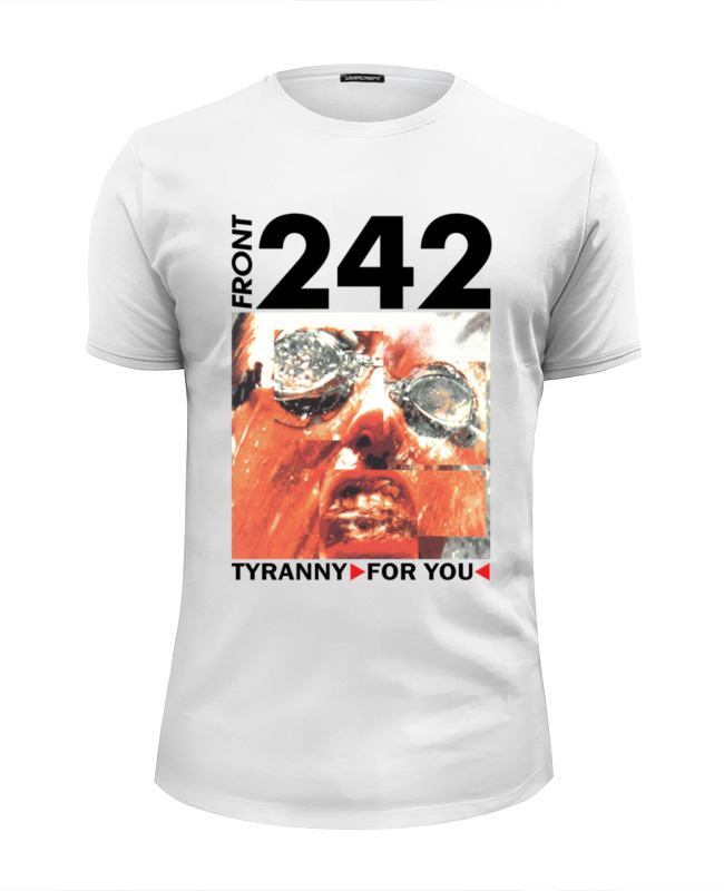 Футболка Wearcraft Premium Slim Fit Printio Front 242 / tyranny ▷ for you ◁ motorcycle front