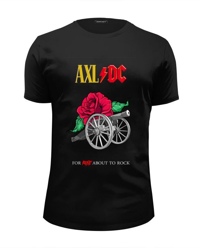 Футболка Wearcraft Premium Slim Fit Printio Ac/dc & axl rose майка борцовка print bar axl rose