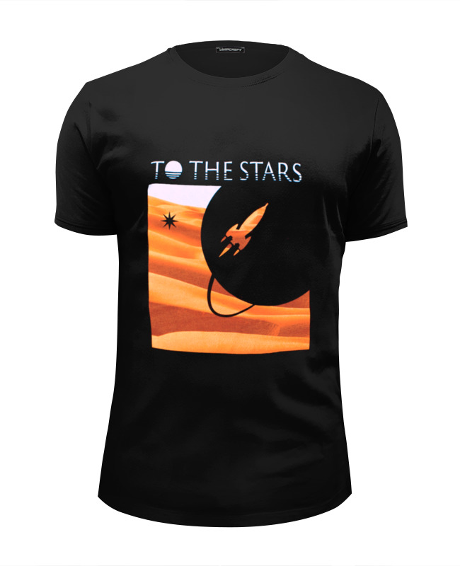Футболка Wearcraft Premium Slim Fit Printio To the stars dunes mens