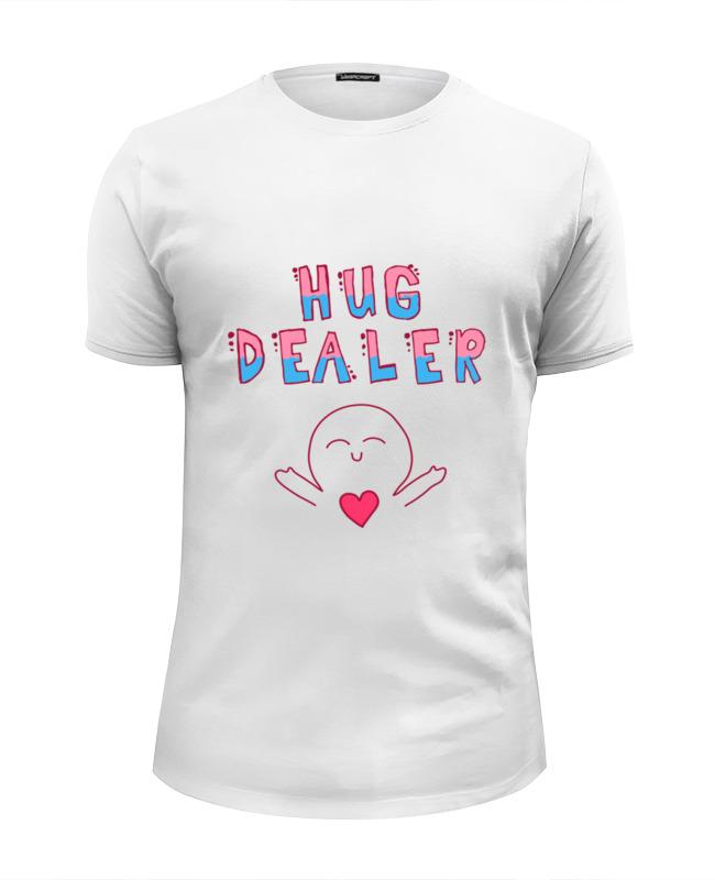 Футболка Wearcraft Premium Slim Fit Printio Hug dealer обнимашки футболка wearcraft premium printio hug dealer обнимашки