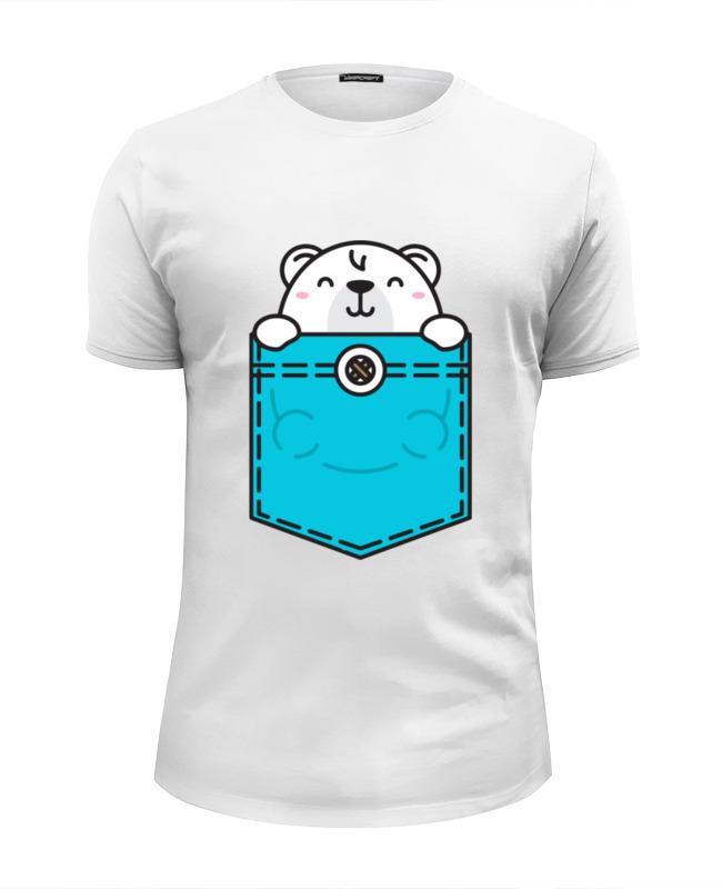 Футболка Wearcraft Premium Slim Fit Printio Белый мишка футболка wearcraft premium slim fit printio белый ходок