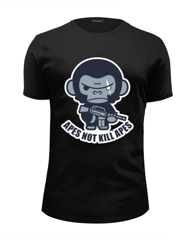 Футболка Wearcraft Premium Slim Fit Printio Обезьяны не убивают (планета обезьян) футболка стрэйч printio обезьяны не убивают планета обезьян