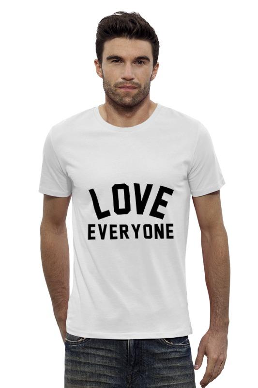 Футболка Wearcraft Premium Slim Fit Printio Любить всех футболка для беременных printio любить всех