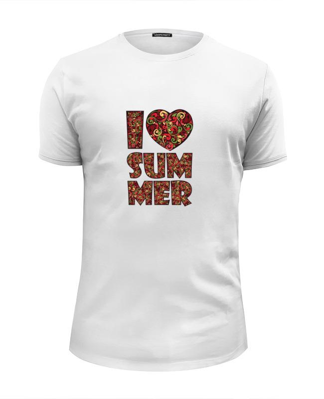 Printio Я люблю лето футболка wearcraft premium slim fit printio я люблю питер