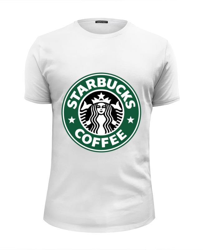 Футболка Wearcraft Premium Slim Fit Printio Starbucks coffee сумка printio starbucks coffee