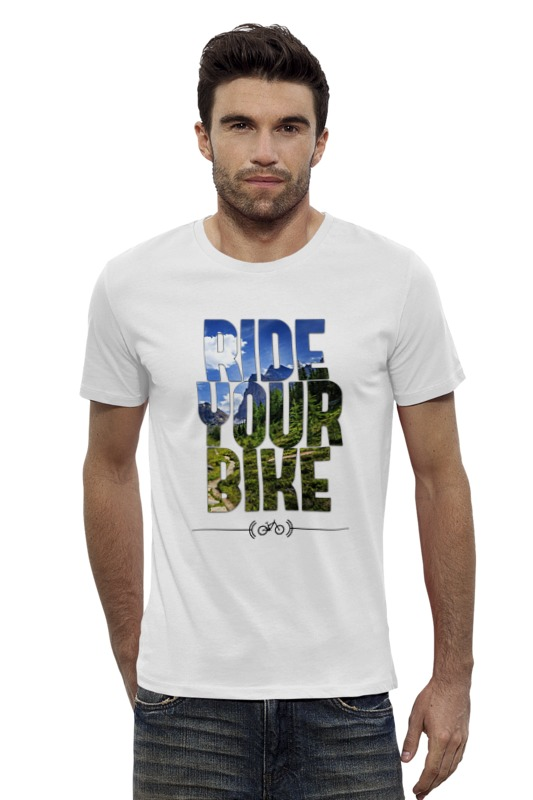 Футболка Wearcraft Premium Slim Fit Printio Ride your bike (горы) футболка wearcraft premium slim fit printio bike