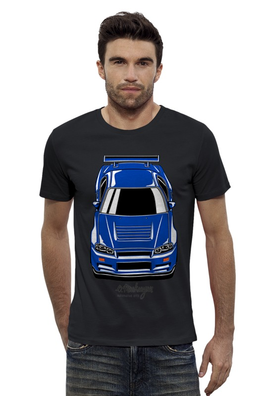 Футболка Wearcraft Premium Slim Fit Printio Skyline r34 футболка стрэйч printio nissan skyline r34