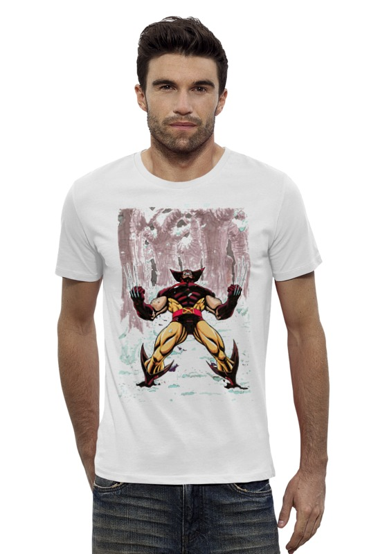 Футболка Wearcraft Premium Slim Fit Printio Wolverine. marvel