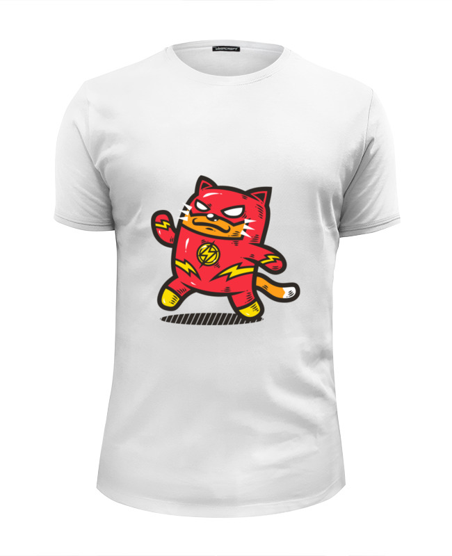 Футболка Wearcraft Premium Slim Fit Printio Кот-флэш футболка wearcraft premium slim fit printio кот суши