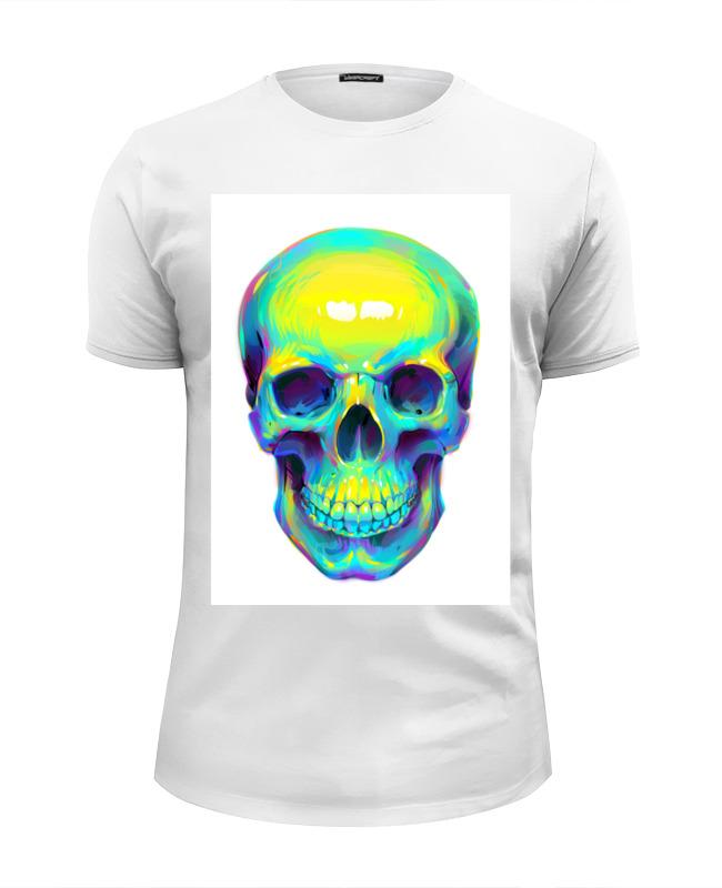 Футболка Wearcraft Premium Slim Fit Printio Colorfull skull блокнот printio colorfull skull