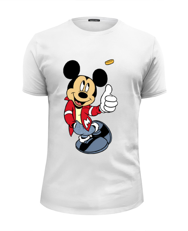 Футболка Wearcraft Premium Slim Fit Printio Микки маус футболка print bar mickey mouse микки маус