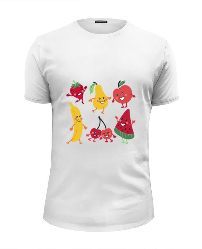 Футболка Wearcraft Premium Slim Fit Printio Фрукты футболка wearcraft premium printio фрукты