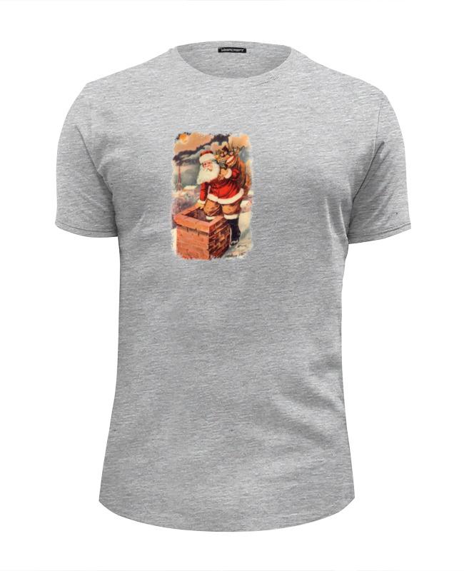 Футболка Wearcraft Premium Slim Fit Printio Дед мороз в трубе футболка wearcraft premium slim fit printio дед мороз santa