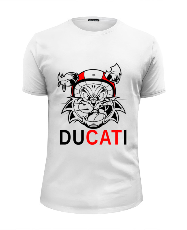 Футболка Wearcraft Premium Slim Fit Printio Ducati худи print bar ducati