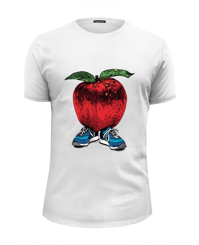 Футболка Wearcraft Premium Slim Fit Printio Яблоко футболка ехидна футболка яблоко от яблони