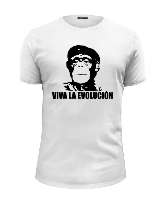 Футболка Wearcraft Premium Slim Fit Printio Viva la evolucion все цены