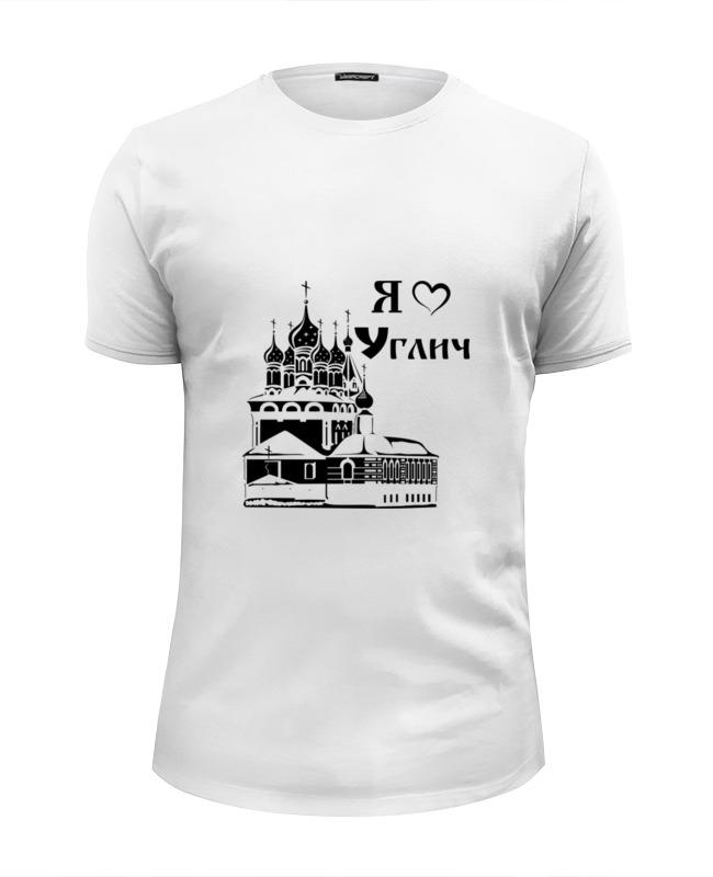 Футболка Wearcraft Premium Slim Fit Printio Я люблю углич футболка классическая printio я люблю углич
