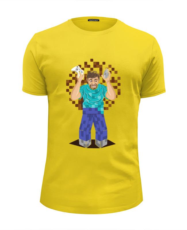 Футболка Wearcraft Premium Slim Fit Printio Майнкрафт (копатель) футболка wearcraft premium slim fit printio like a boss майнкрафт