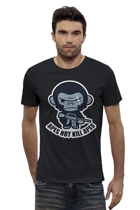 Футболка Wearcraft Premium Slim Fit Printio Обезьяны не убивают (планета обезьян) футболка с полной запечаткой для девочек printio планета обезьян planet of the apes
