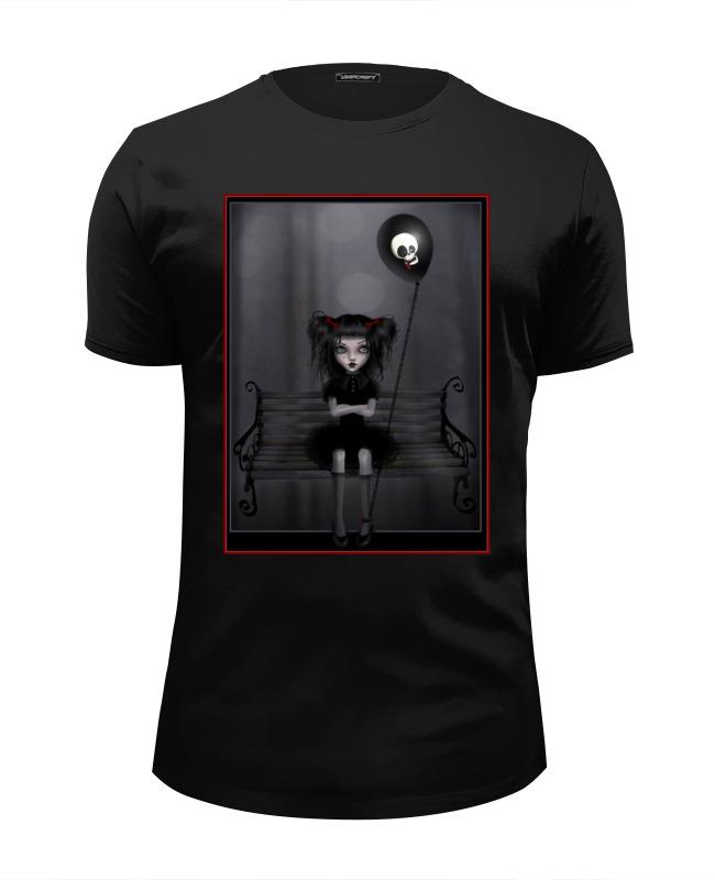 Футболка Wearcraft Premium Slim Fit Printio Готика, девочка и шар футболка классическая printio готика