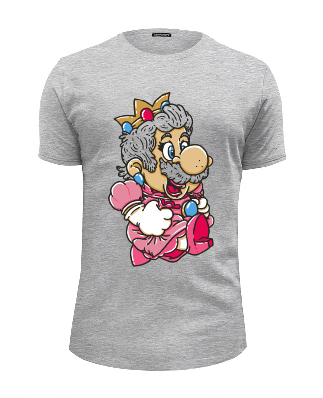 Футболка Wearcraft Premium Slim Fit Printio Mario (princess peach) футболка wearcraft premium slim fit printio super mario bros