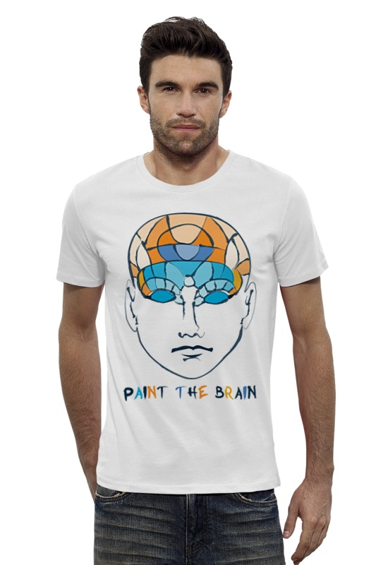 Футболка Wearcraft Premium Slim Fit Printio Раскрась мозг роман воликов мозг партии