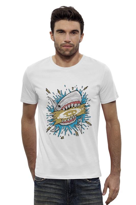 Футболка Wearcraft Premium Slim Fit Printio Акула футболка рингер printio акула