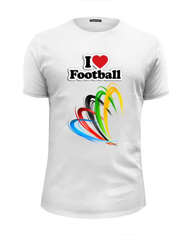 Printio Я люблю футбол футболка wearcraft premium slim fit printio я люблю кроссфит лукас паркер