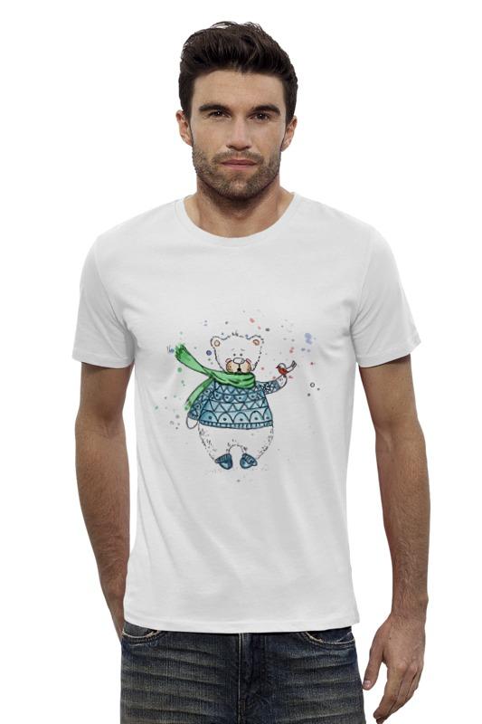 Футболка Wearcraft Premium Slim Fit Printio Белый мишка футболка wearcraft premium slim fit printio мишка me to you
