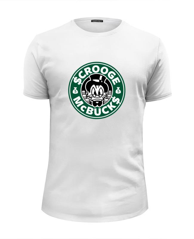 Футболка Wearcraft Premium Slim Fit Printio Scrooge mcbucks (starbucks) футболка wearcraft premium printio belles book cafe starbucks