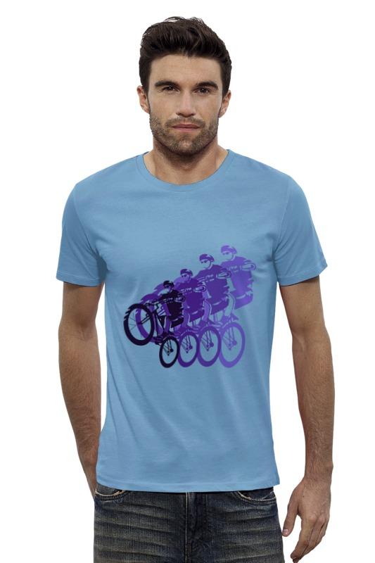 Футболка Wearcraft Premium Slim Fit Printio Велосипедисты футболка wearcraft premium slim fit printio голубой морской кит кашалот