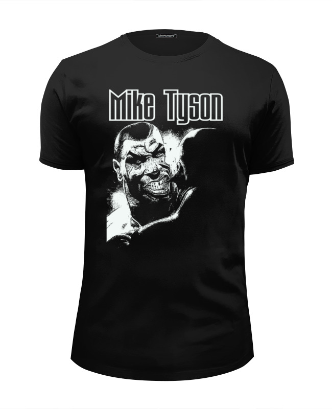 Футболка Wearcraft Premium Slim Fit Printio Mike tyson mike lawson the inside ring