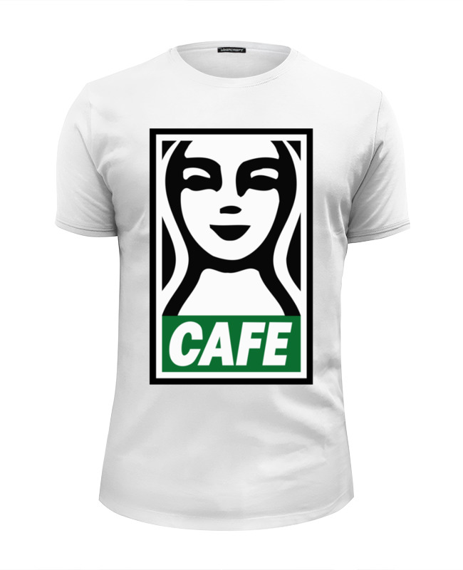 Футболка Wearcraft Premium Slim Fit Printio Starbucks (obey) футболка wearcraft premium printio belles book cafe starbucks