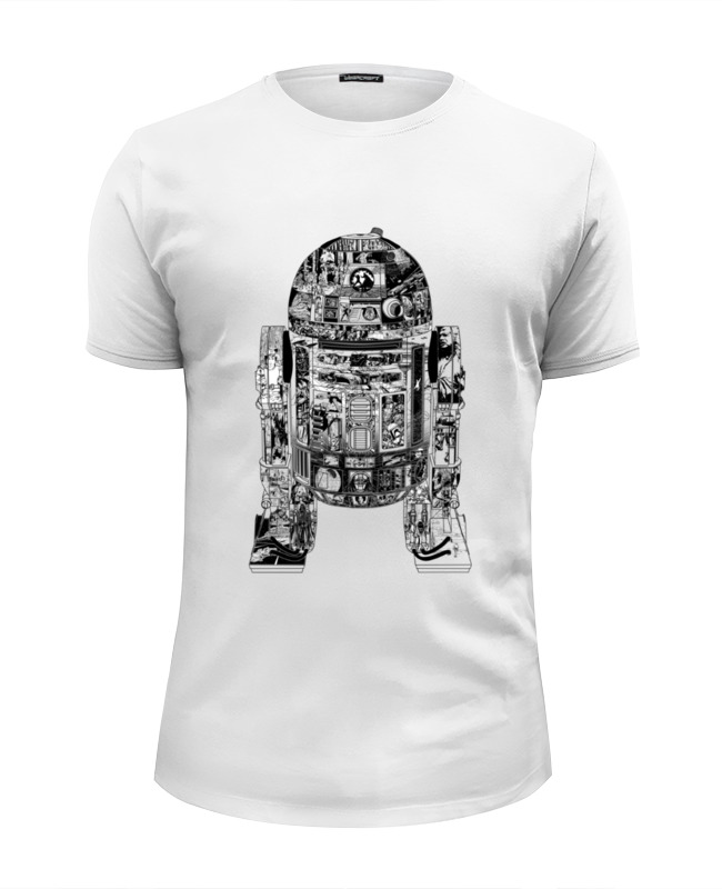 Футболка Wearcraft Premium Slim Fit Printio Дроид r2-d2 футболка wearcraft premium printio дроид k 2so