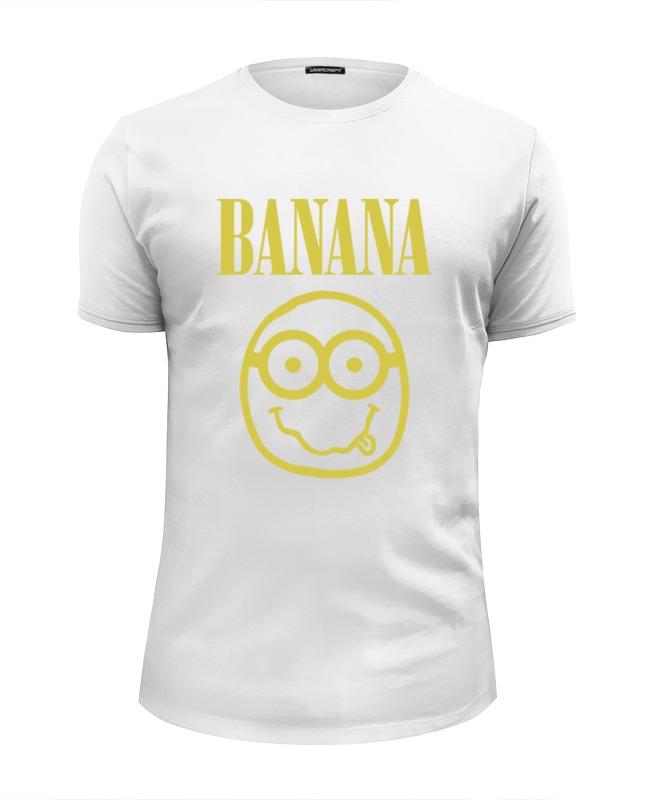 Футболка Wearcraft Premium Slim Fit Printio Banana smile
