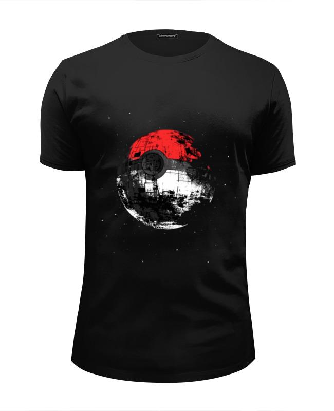 Футболка Wearcraft Premium Slim Fit Printio Покебол - звезда смерти футболка wearcraft premium slim fit printio луна звезда смерти