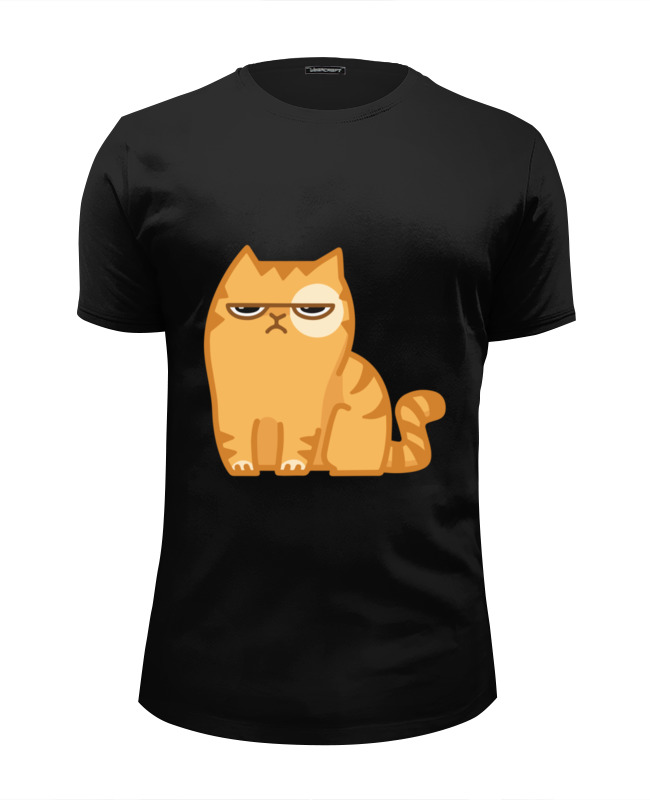 Футболка Wearcraft Premium Slim Fit Printio Кот персик / cat persik футболка wearcraft premium slim fit printio кот суши
