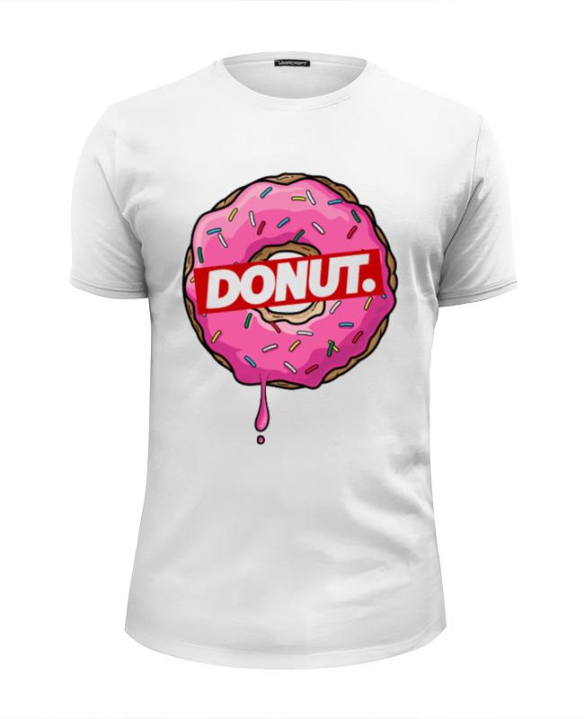 Футболка Wearcraft Premium Slim Fit Printio Simpsons. donut