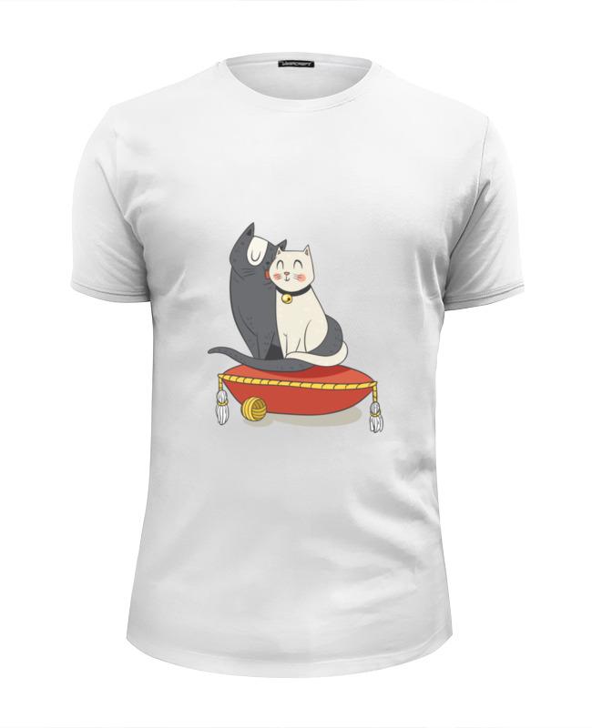 Футболка Wearcraft Premium Slim Fit Printio Милые кошки футболка для беременных printio милые кошки