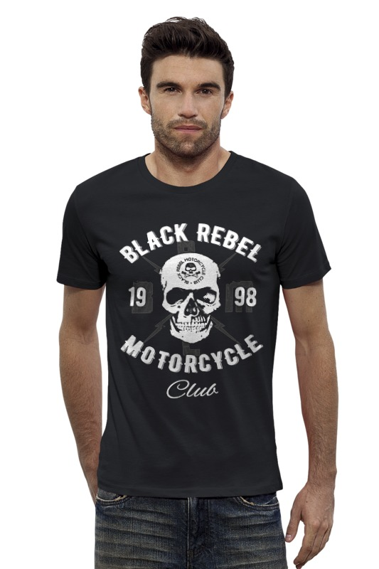 Футболка Wearcraft Premium Slim Fit Printio Black rebel motorcycle club футболка классическая printio black rebel motorcycle club
