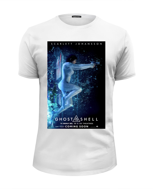 Футболка Wearcraft Premium Slim Fit Printio Призрак в доспехах / ghost in the shell лонгслив printio призрак в доспехах ghost in the shell