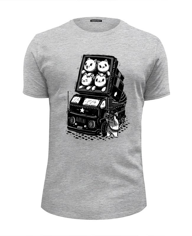 футболка wearcraft premium slim fit printio коты и кошки cats Футболка Wearcraft Premium Slim Fit Printio Ракетные коты