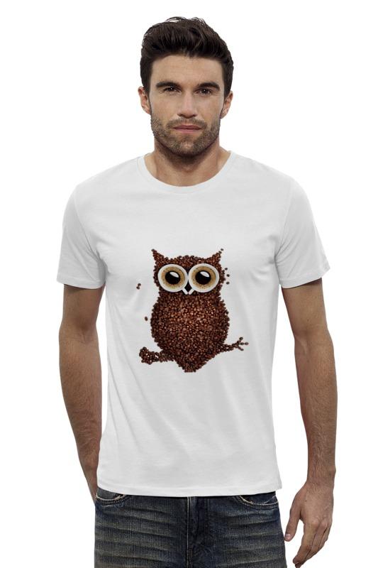 Футболка Wearcraft Premium Slim Fit Printio Кофе-сова футболка wearcraft premium slim fit printio грустная сова