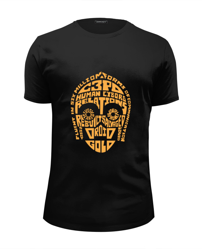 Футболка Wearcraft Premium Slim Fit Printio Дроид c-3po футболка c audigier
