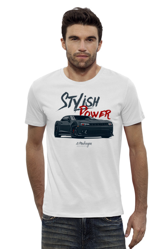 Футболка Wearcraft Premium Slim Fit Printio Chevrolet camaro футболка стрэйч printio chevrolet camaro