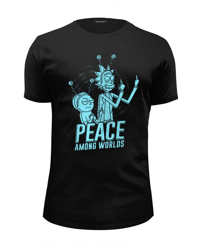 Футболка Wearcraft Premium Slim Fit Printio Рик и морти футболка wearcraft premium printio peace among worlds рик санчез