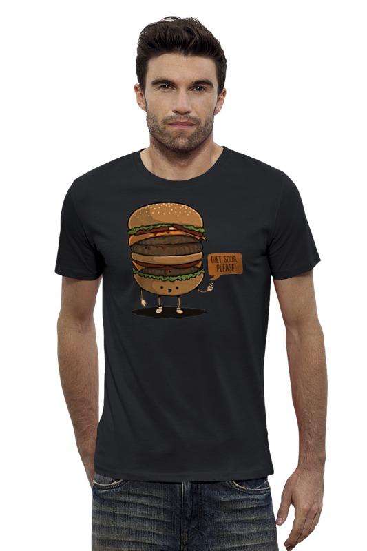 Футболка Wearcraft Premium Slim Fit Printio Diet burger / бургер фартук printio no diet